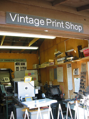MOAH print shop exhibit