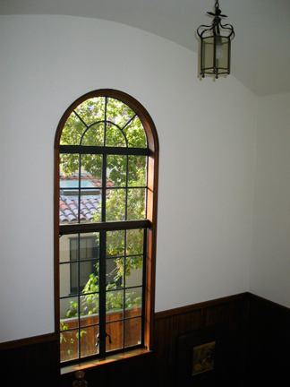 window fromtop of stairs