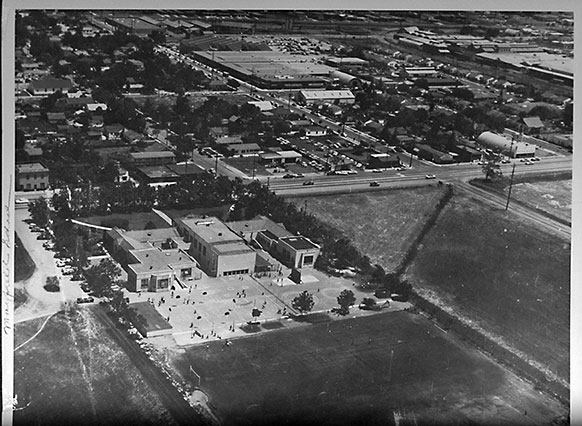 Aerial view of Mayfield School