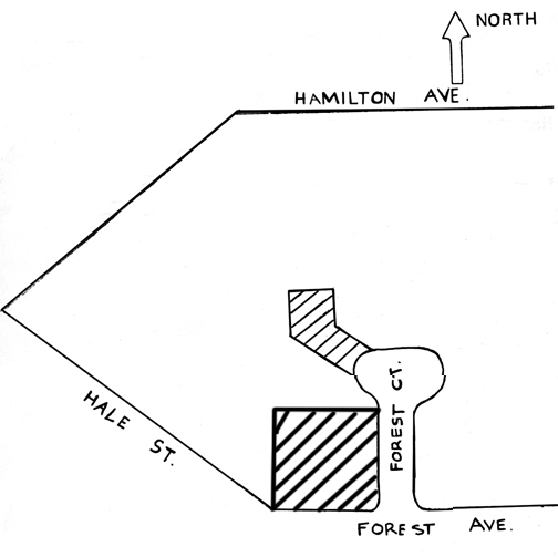 map showing house and carriage house