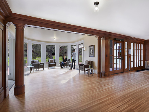 sunroom and woodwork