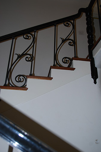 grill work on stair case