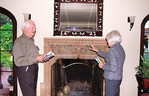 Tom Wyman and Batchelder tile fireplace surround