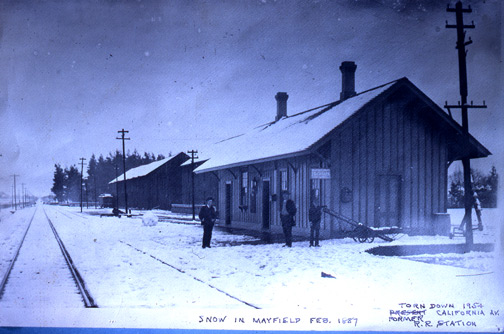 Snow in Mayfield in 1887