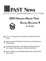 Fall 2001 PAST Newsletter