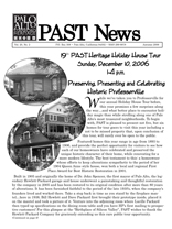 Fall 2006 PAST Newsletter