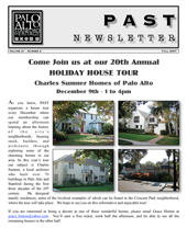 Fall 2007 PAST newsletter