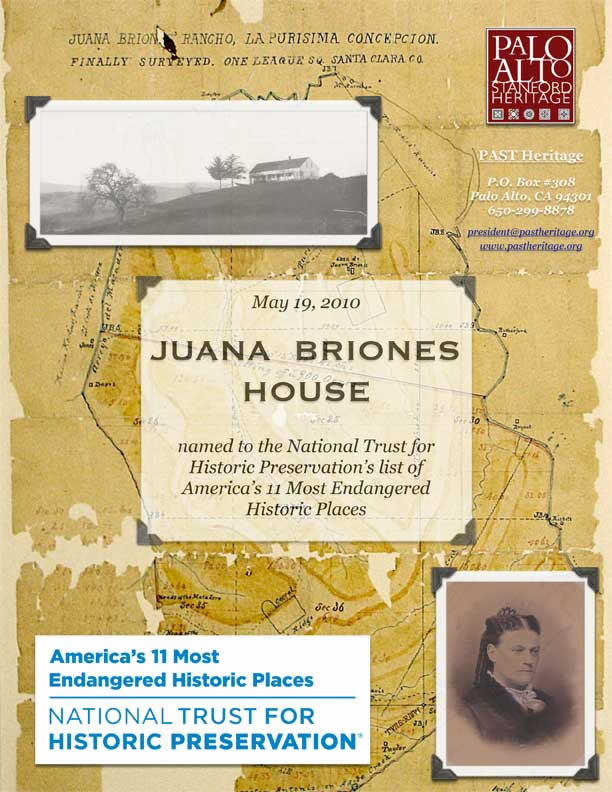 Juana Briones announcement flyer page 1