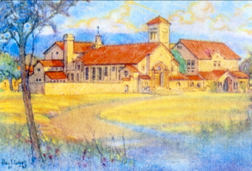 Painting of Palo Alto High School