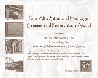 Woman's Club certificate