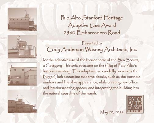 Architect's certificate