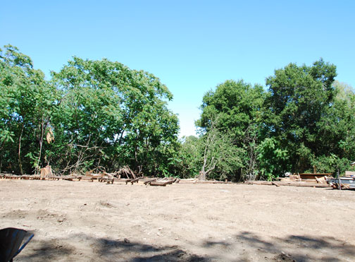 Cleared land where Juana Briones's house onece stood.